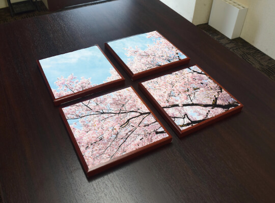 桜のファブリックパネル紙製02