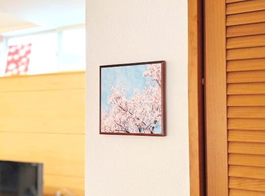 桜のファブリックパネル紙製05