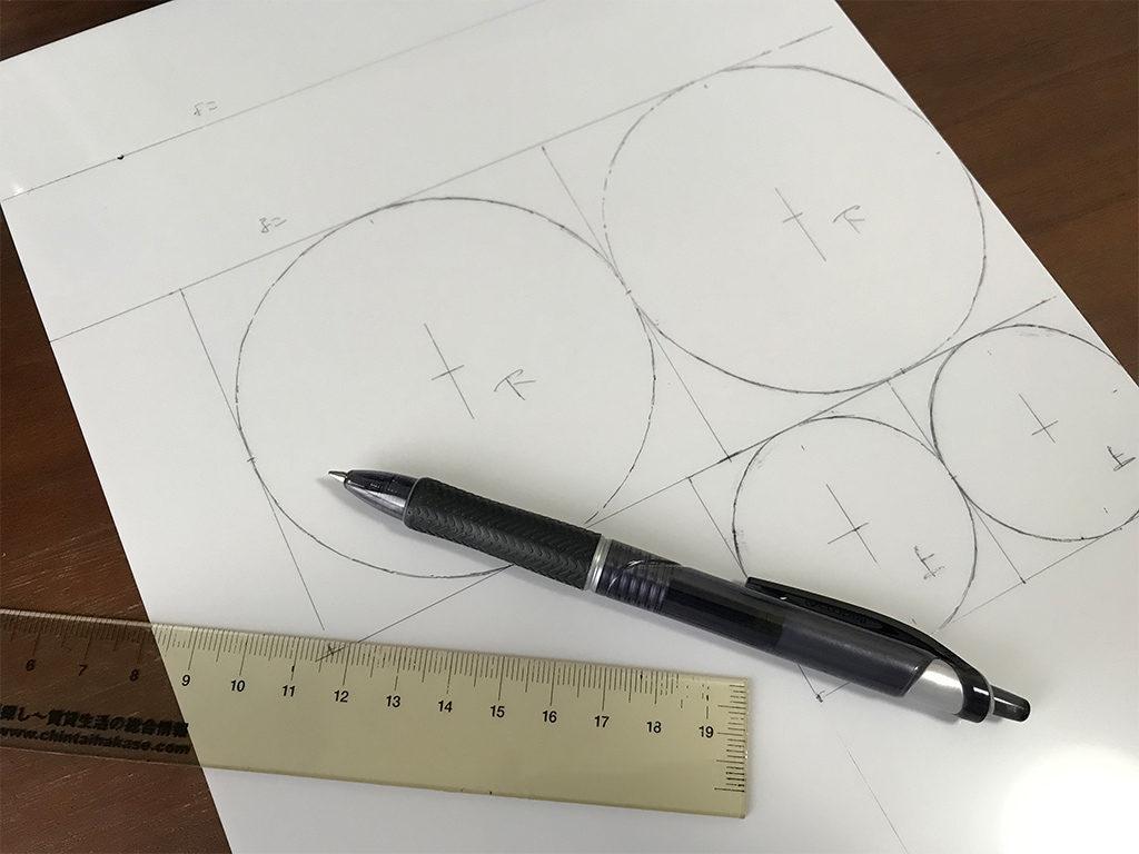 ミニハットの作り方02_寸法を写したプラバン