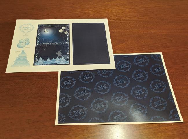 ポップアップカードの作り方01_プリントした型紙